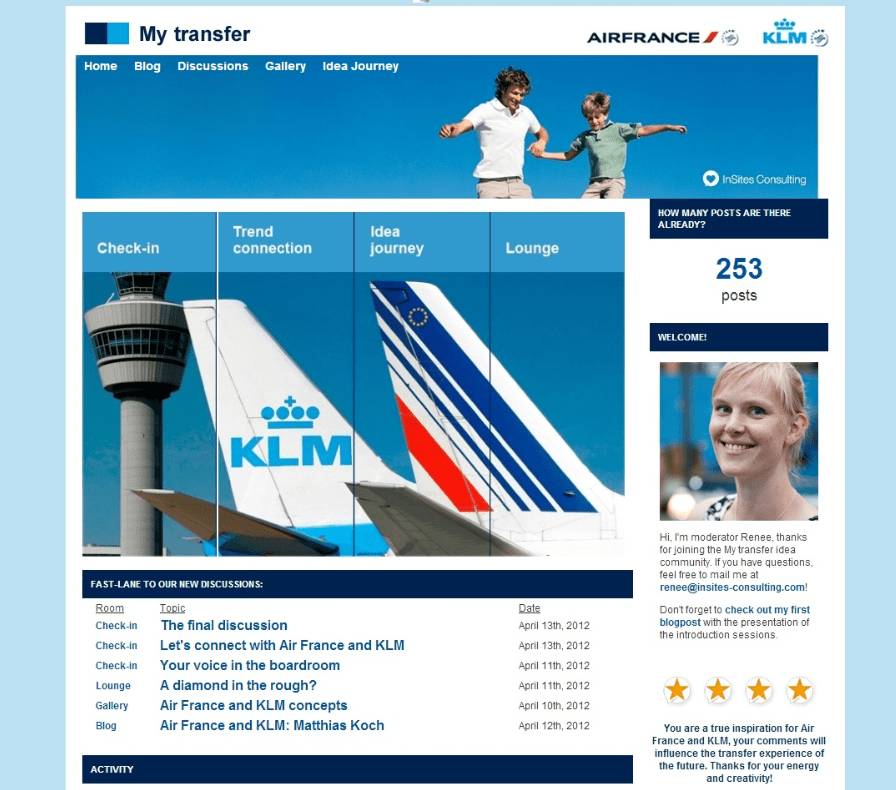 Air France and KLM MyTransfer community