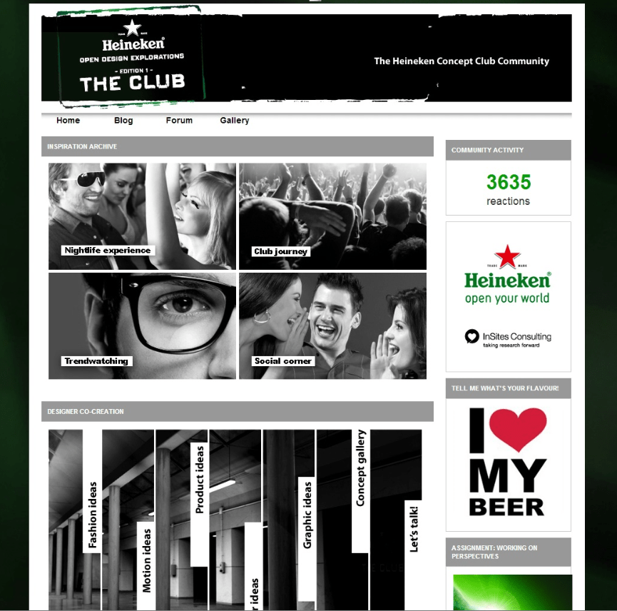Heineken Concept Club community