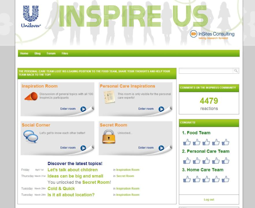 Unilever Inspire Us community