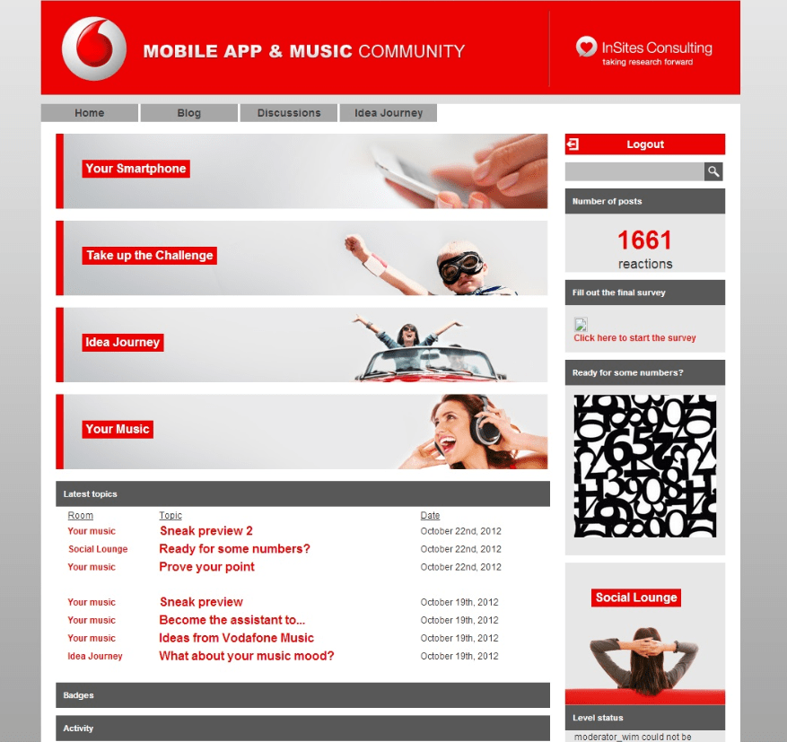 Vodafone Mobile app & music community