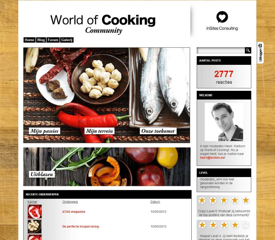 ATAG World of cooking community