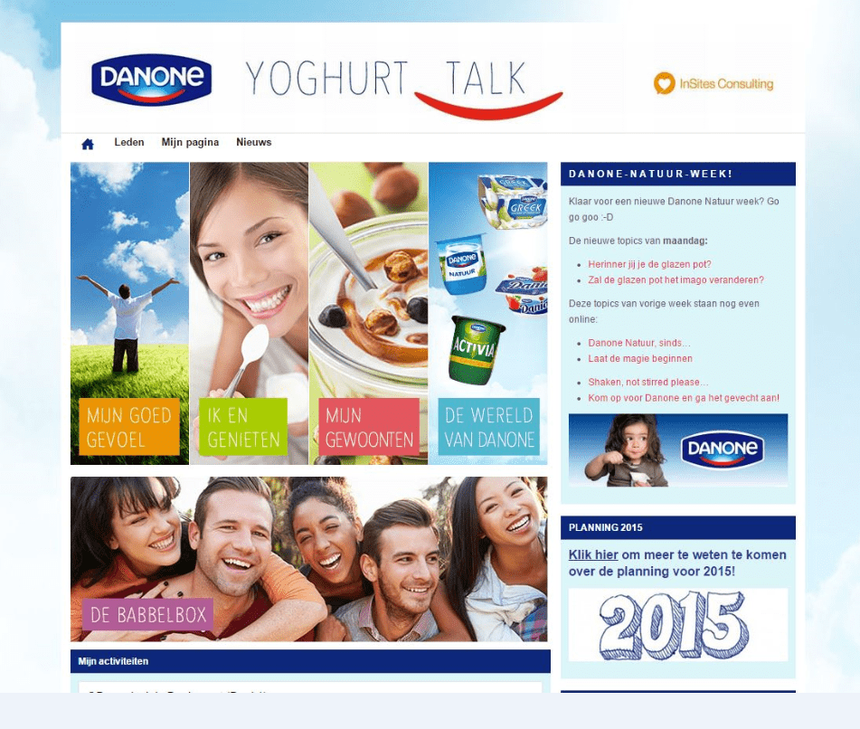 Danone Yoghurt Talk community
