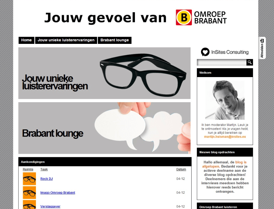Omroep Brabant blogging platform
