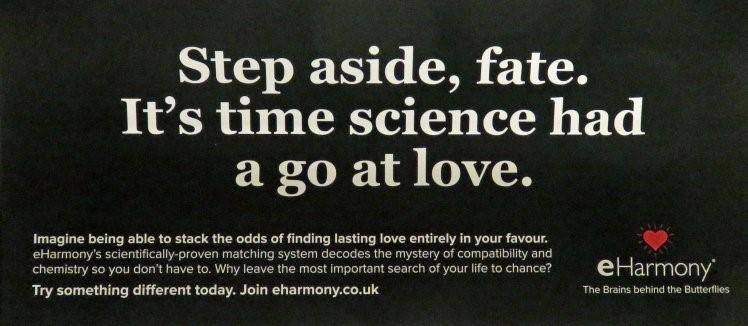 eHarmony scientific claims