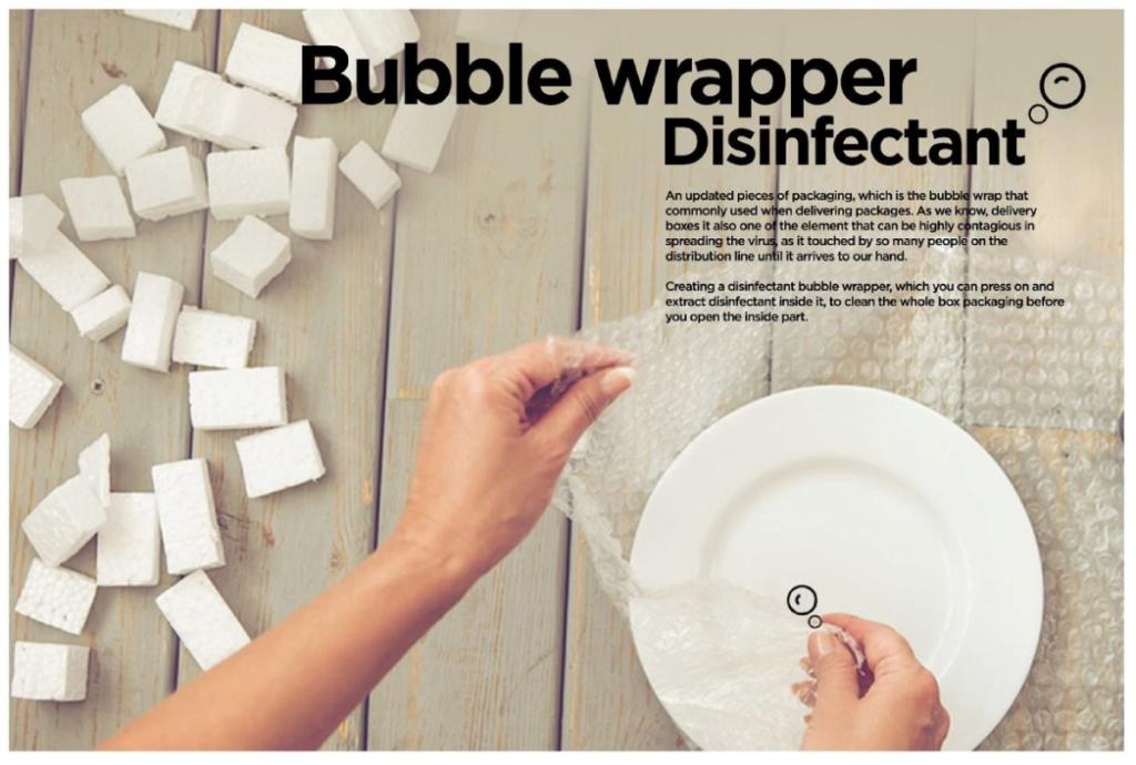 Bubble Wrapper Disinfectant