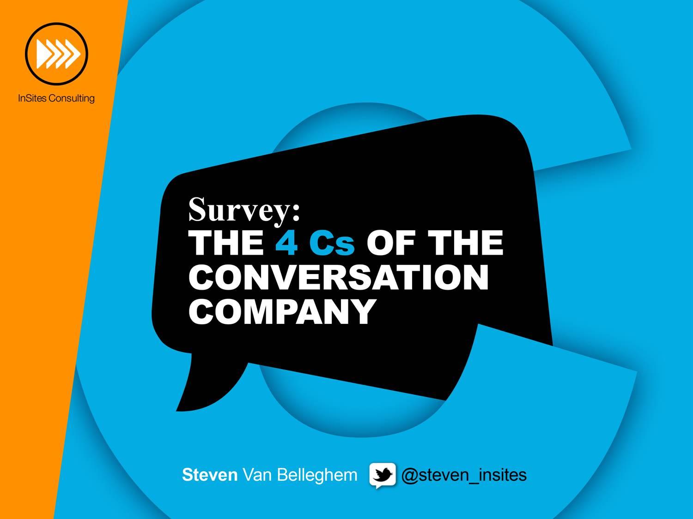 The 4Cs of the Conversation Company